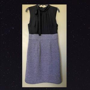 MERONA Empire Dress Sz 10 Black & Gray
